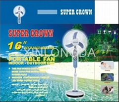 Rechargeable  Standing fan supplier 16inch
