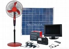 Portable Solar System solar fan tv and