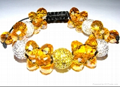 fashion  shamballa crystal bracelet for wholesale
