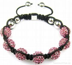 pink fashion shamballa bracelet