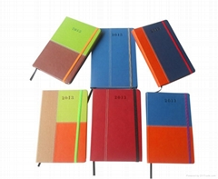 A4/A5/A6 pu leather notebook with elastic band