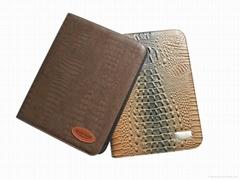 鱷魚紋PU經理夾拉鍊包