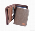 Leather portfolio with zipper and calculator 4