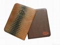 Leather portfolio with zipper and calculator 5