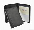 A4 zippered  leather portfolio 1