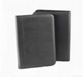 A4 zippered  leather portfolio 5