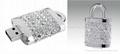 Luxury jewelry flash stick usb flash