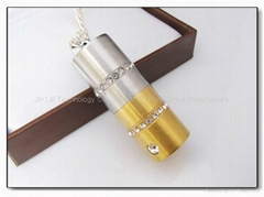 Promotion crystal usb flash driver usb thumb drive