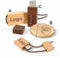 Wooden USB pen drive -with logo laser imprint -16gb 4