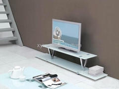 modern design new style tempered glass tv stand