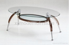 modern deisgn living room furniture wood glass coffee table