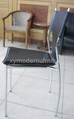 hot sell modern design pu and metal frame chair