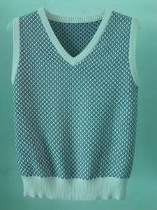 knit jacquard vest 1