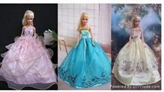 Beautiful doll wedding dress, doll clothes