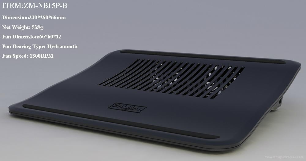 "Zalman Brand Laptop Cooling Pad 15.4""Wide Screen (ZM-NB15P-B) 1"