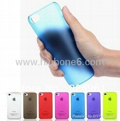 0.5mm Ultra Thin Slim Transparent Matte Frosted Hard Cover Case for iPhone 5s/5g
