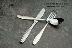 供應出口系列不鏽鋼西餐頭盤刀叉勺