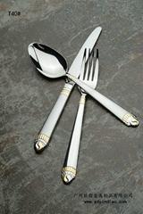 供应银貂德国灵感大牌磨砂质感刀叉勺