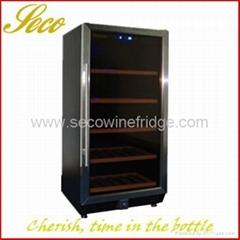 188liter stainless steel compressor wine fridge