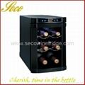 6 bottle classic wine cooler fridge
