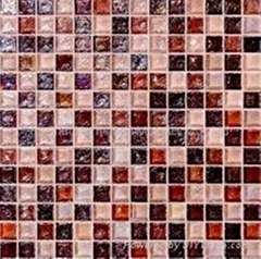 Colorful Flesh Crystal Glass Mosaic, Mosaic Tile