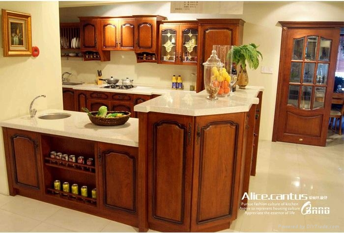 Wooden kitchen cabinet high end top quality allwood for High end kitchen cabinets