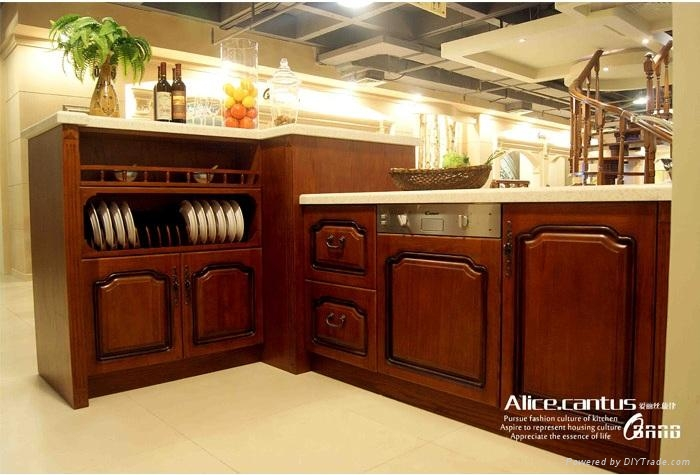 Wooden kitchen cabinet high end top quality allwood for Best quality kitchen cabinets brands