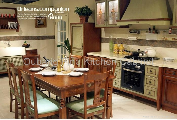 High End Kitchen Cabinet Solidwood Furniture Oc Kitchen Furniture Orleans Oubang China Manufacturer Kitchen Furniture Furniture