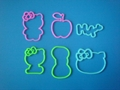 Hello kitty shaped silicone bands