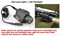 Tactical LED Flashlight Red Laser Sights