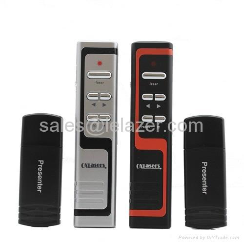USB Wireless PowerPoint Presenter Laser Pointer 1mW 1