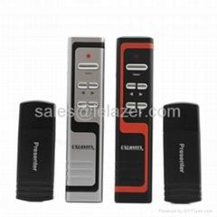 USB Wireless PowerPoint Presenter Laser Pointer 1mW