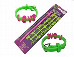 Silicone Message Bracelet