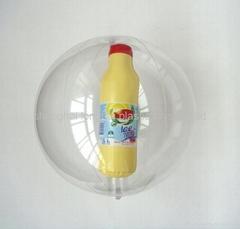 Beach Ball with Bottle Inside