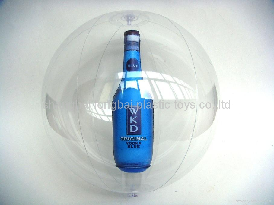 Beach Ball with Bottle Inside 3