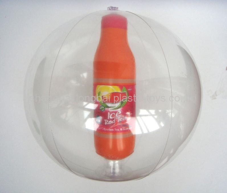 Beach Ball with Bottle Inside 4