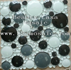 3D cicle glass mosaic tile