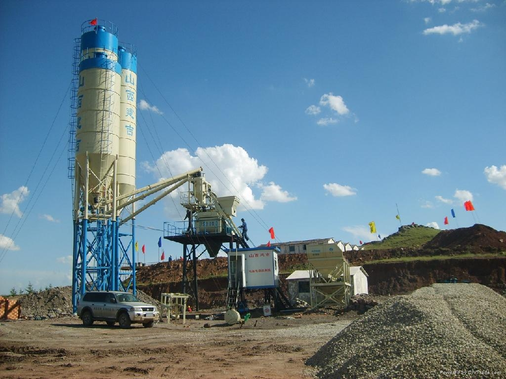 Cement Ready Mix Plant : Hzs m h ready mix concrete batch plant dry