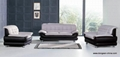 LEATHER SOFA 1+2+3( A139) ,simple and