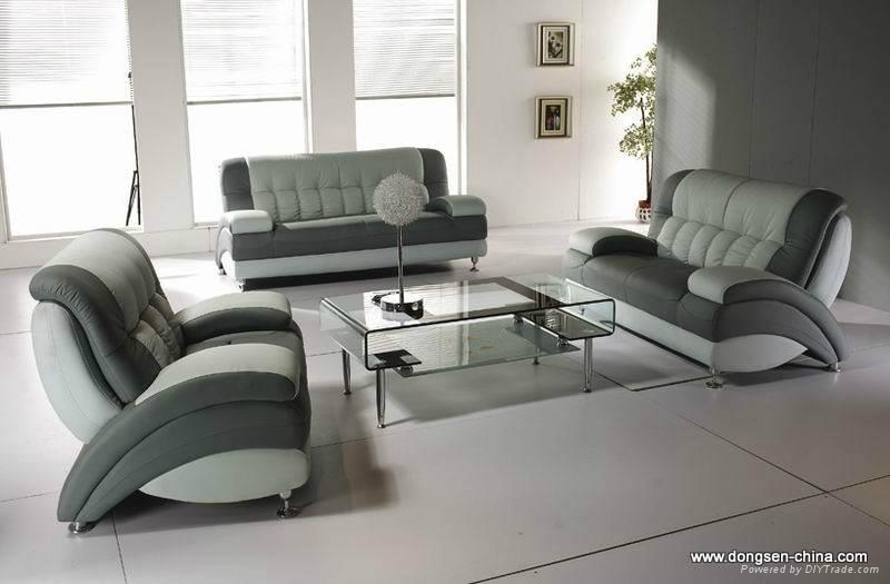 Leather Living Room Sofa 1+2+3 (A161), Modern Design ,