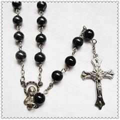 6mm Hematite Catholic Rosary