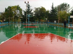 運動地板硅PU籃球場面積介紹