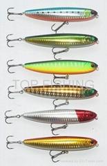 top water sinking fishing lure pencil