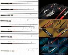 saltwater fresh water fishing lure rod with fuji guide