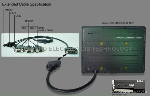 """7"""" Industrial Computer & All in One PC (Comply with IP64 Standard) (PC-765) 3"""