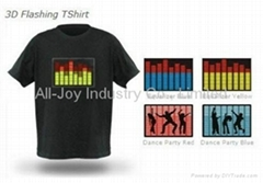 sound activated EL t shirt LED t-shirt
