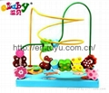 wooden beads game with butterfly