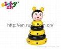 wooden stacking toy with bee