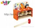 wooden hammer toy with zebra