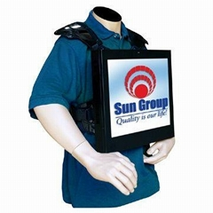 Fnite movable backpack advertising player